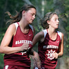 Gloucester freshmen, Emma Knowlton, left, and Brianna Levie, run side by side during their meet against Lynn Classical on Wednesday at Ravenswood Park. David Le/Gloucester Daily Times