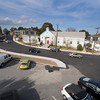 Essex:  Cars pass freely on the newly paved road in front of the Village Resturant Wednesday afternoon. Desi Smith/Gloucester Daily Times. September 21, 2011