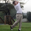 Manchester-Essex golfer Ethan Tanson follows through after teeing off on a ball. David Le/Gloucester Daily Times