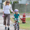Essex:   Jemma Troy and her daughter Pippa Spingler 5, head back home on Western Ave, after a visit to the Apple St Farm on Wednesday afternoon. Desi Smith/Gloucester Daily Times. September 21, 2011