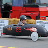 Gloucester: Bryan Buckley keeps one eye on the road as he heads to the finish line in the Modified Divison at the Fishbox Durby held Sunday afternoon on Roger St.  Desi Smith/Gloucester Daily Times. September 18, 2011
