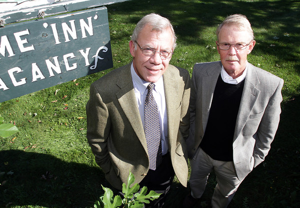 Peter Noonan, left, Program Director for a new approved housing establishment for adults with brain injuries at Old Farm Inn, Rockport, stands with Peter Robbins, right. David Le/Gloucester Daily Times