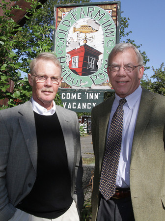 Peter Robbins, left, and Peter Noonan, right, Program Director for a new approved housing establishment for adults with brain injuries at Old Farm Inn, Rockport. David Le/Gloucester Daily Times