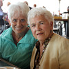 Linda Castagna, of Milford, NJ, left, sits with Dorothy Buckley, at the Seaport Grille at Cruiseport Gloucester on Thursday afternoon. Last spring Dorothy was hit by a car while crossing the street and Linda, who happened to be in town for vacation, came to her aid. Since the accident, Linda has been keeping in touch with Dorothy's daughter Jane Cahill, but the two families had never met until they came together for lunch at the Seaport Grille on Thursday. David Le/Gloucester Daily Times