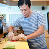 Essex:  Sushi Chief Jim Guan makes up an order of Sushi at Fortune Palace Wednesday afternoon. Desi Smith/Gloucester Daily Times. September 21, 2011