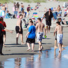 Gloucester Police hearded people out of the water and away from The Creek at Good Harbor Beach after someone was swept into the ocean by a strong riptide on Friday afternoon. Good Harbor Beach Lifeguards managed to safely rescue and return the person to land unharmed, and police ordered people out of the water in the area that it had happened. David Le/Gloucester Daily Times