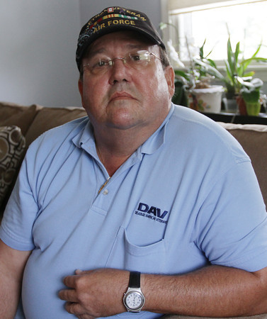 Tom Dagle, of Gloucester, was a mechanic for United Airlines, who worked on Flight 175 the night before it was the second plane flown into the North Tower of the World Trade Center. Dagle was one of two Vietnam Veterans who sent out the first 737 airplane after the September 11th attacks. David Le/Gloucester Daily Times.