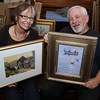 "Local artists Marilyn Swift, a Gloucester watercolor painter, left, and Bruce Turner, a Rockport oil painter, will open a joint show, ""New England Inspiration-Two Views,"" with a reception on September 24th from 1:30-4:30 at the North Shore Arts Association. David Le/Gloucester Daily Times"