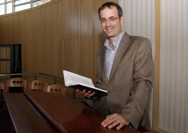 Steven Lewis, new Rabbi at the Temple Ahavat Achim, prepares for Rosh Hashana. David Le/Gloucester Daily Times