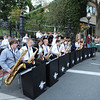 Gloucester:  Conductor Dave Adams leads the Gloucester Docksiders at the last Block Party of the year on Main St, Saturday evening.   Desi Smith/Gloucester Daily Times. September 17, 2011