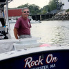 ALLEGRA BOVERMAN/Gloucester Daily Times Tuna fisherman Richard Burgess of Manchester on his skiff, Rock On.