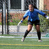 Allegra Boverman/Gloucester Daily Times Marblehead Varsity Grls Soccer goalie Cassandra Rodgers in action against Manchester Essex on Tuesday afternoon in Manchester.