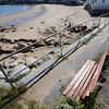 Jim Vaiknoras/Gloucester Daily Times: <br /> One of the benches on Front Beach on Rockport in need of replacement. The town plans on replacing the benches, which are in varying degrees of disrepair.