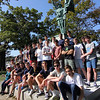 Allegra Boverman/Gloucester Daily Times. Students from St. Kevin's College in Melbourne are visiting the U.S. for a few weeks and are staying in Manchester, Essex and Beverly Farms. They were having a historic walking tour of Manchester on Monday afternoon. The group, including four teachers, paused at the Doughboy statue in Masconomo Park.
