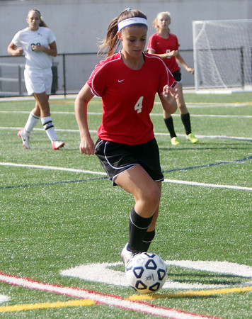 Allegra Boverman/Gloucester Daily Times Marblehead Varsity Grls Soccer player Kiley Fischer in action against Manchester Essex on Tuesday afternoon in Manchester.