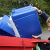 Allegra Boverman/Gloucester Daily Times. Essex Elementary School fifth grader Luke Dawson, a member of the school's Green Team, recycles paper and other items with the group a few times a week.
