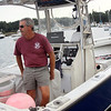 ALLEGRA BOVERMAN/Gloucester Daily Times Tuna fisherman Richard Burgess of Manchester on his skiff Rock On.