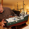 ALLEGRA BOVERMAN/Gloucester Daily Times Paul Gran, who summers in Rockport, made this scale model of the Andrea Gail which is now on display at the Cape Ann Museum.