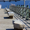 Allegra Boverman/Gloucester Daily Times. The granite benches (and the granite markers) found all along HarborWalk like this these at the I-4, C-2 site are Gloucester granite and are enjoying a new life. They were previously curbs somewhere in the city.