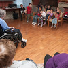 Jim Vaiknoras/Gloucester Daily Times: <br /> A group of students from Majestic Harbor in Gloucester to visit residence at the Golden Living Center Monday to sing songs, ask and answer question. The school brings students to the center every month of so for a visit.