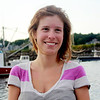 ALLEGRA BOVERMAN/Gloucester Daily Times Heidi Burgess of Manchester and Boston. Her family's tuna fishing skiff, Rock On, is in the background at right, behind her.
