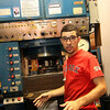 Allegra Boverman/Gloucester Daily Times. BOMCO machine operator Andrew Morais describes how his machine, a hydroform, works at the company. The company creates its own tools to make other parts, as needed, which is what he does.