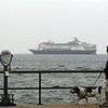 ALLEGRA BOVERMAN/Gloucester Daily Times the Holland America's Veendam cruise ship was in Gloucester on Tuesday. This view is from Stacey Boulevard.