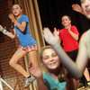 ANGIE BEAULIEU/Staff photo. Lila Olson sings with others during a rehearsal at the O'Maley Musical Theater Camp. 08/21/13