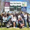 "Desi Smith/Staff photo.   Harold ""Bucky"" Rogers (center) and wife Linda (to his right) pose for a photo with family members after a field dedication bearing his name, after the Gloucester Little League parade and season openner Saturday morning on Dr. Osman Babson Road.   April 30,2016"
