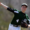 DAVID LE/Staff photo. Manchester-Essex starting pitcher Harry Painter fires a strike against Pentucket. 4/23/16.
