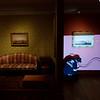 Glucester Artist paints Cassie around the museum