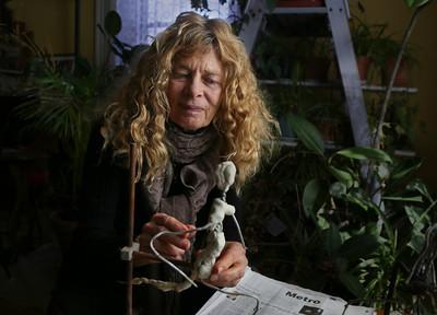 Bobbi Gibb Works on Sculpture