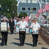 Desi Smith Photo.   From left to right, Gasper A. Lafata, Mike Mulcahey and Carlo Barbara lead the procession down Stacey Boulevard in the Annual Gloucester Fishermen's Memorial Service held Saturday afternoon at the Fishermens Monument.     August 27,2016.