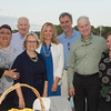 Desi Smith Photo.  Left to right, Mayor Sefatia Romeo Theken, former Mayor John and Jan Bell, Rebecca Sorensen, John Serbin, Jim and Kathi Turner pose for a photo at the Sea to Supper Celebration and fundraiser held on August 24,2017 at Mile Marker One Restaurant & Bar at Cape Ann's Marina Resort.