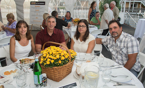 Desi Smith Photo.   Left to right, Rosemarie and Joe Randazzo and Isabel and Al Cottone attended the Sea to Supper Celebration and fundraiser held on August 24,2017 at Mile Marker One Restaurant & Bar at Cape Ann's Marina Resort.