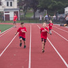 Desi Smith Photo.     A group of young boys compete in the 100 yard dash, during the Youth Track and Field held late Wednesday afternoon at the New Balance Track and Field at Newell Stadium.     August 1,2018