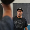 MIKE SPRINGER/Staff photo<br /> Coach John Conant, proprietor of Crossfit Cape Ann, leads a kettlebell fitness class.<br /> 8/14/2018