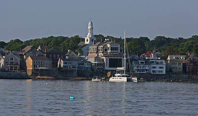MIKE SPRINGER/Staff photo Rockport from the water. 8/8/2018
