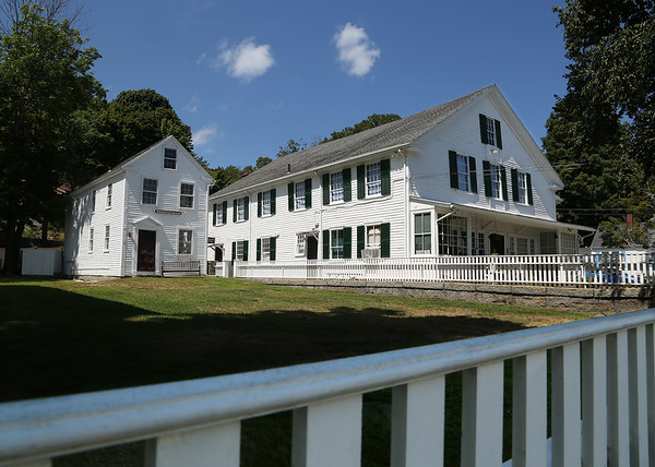 MIKE SPRINGER/Staff photo<br /> The Annisquam Historical Society, left, and Village Hall in the heart of historic Annisquam.<br /> 8/10/2018