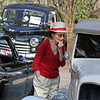 MIKE SPRINGER/Staff photo<br /> Lauren MacLean looks into an old car during the annual antique car show Wednesday at the Den-Mar Health and Rehabilitation Center in Rockport. The event was attended by a mixture of residents and members of the community, and included a variety of old cars, music and a picnic.<br /> 8/15/2018