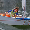 MIKE SPRINGER/Staff photo<br /> Ten-year-old Gerardo Distefano steers his boat Thursday in the Sandy Bay Yacht Club junior sailing program in Rockport. The program is wrapping up the last week of summer.<br /> 8/16/2018
