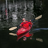 MIKE SPRINGER/Staff photo<br /> Steve Mummendey paddles his kayak across the calm surface of Lobster Cove Thursday morning near his home in Annisquam.<br /> 8/9/2018