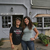 MIKE SPRINGER/Staff photo<br /> Proprieters Sonia Pires, left, and Chrissy Sweet in front of their new business, the Lattof Farmhouse Kitchen in Rockport.<br /> 8/14/2018
