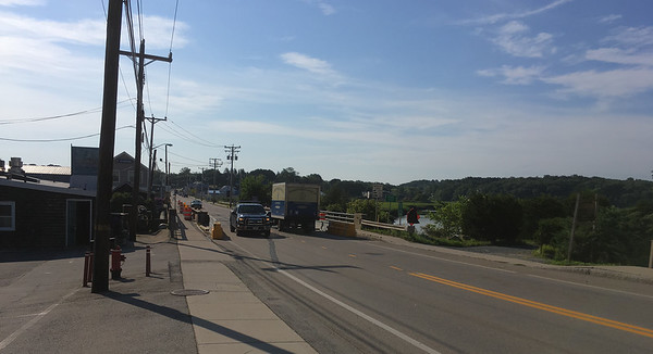 ANDREA HOLBROOK/Staff photo/The state Department of Transportation has completed interim repairs to the Main Street/Route 133 bridge over the Essex River. Temporary traffic lights have been removed and two-way traffic is possible again.