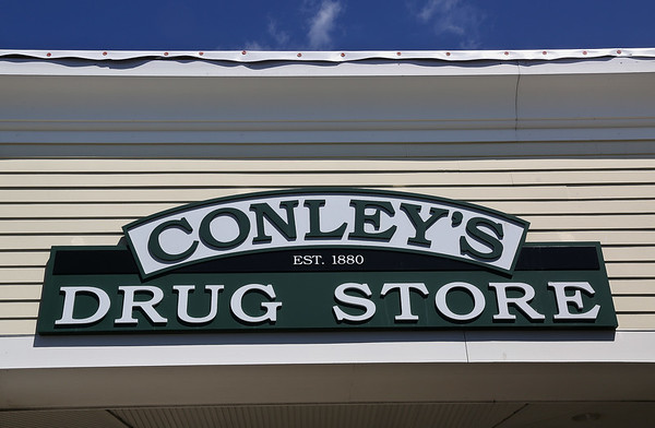 MIKE SPRINGER/Staff photo<br /> Conley's Drug Store on Railroad Avenue in Gloucester.<br /> 8/2/2018