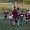 MIKE SPRINGER/Staff photo<br /> Coach Armando Marnoto leads a group of youngsters in the 7th-annual Cape Ann Soccer Camp Tuesday at Magnolia Woods in Gloucester. Eighty campers from four to 13 years of age have participated this summer.<br /> 7/31/2018