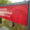 SEAN HORGAN/Staff photo/The University of Massachusetts Amherst has put a new sign at the Gloucester Marine Station in Hodgkins Cove. Extension professor Katie Kahl, who works at the station, will talk about the school's plans for the station Tuesday at 6 p.m. at the Lanesville Community Center, 8 Vulcan St.