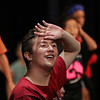 MIKE SPRINGER/Staff photo<br /> Ninth-grader Colby Laing rehearses a scene in the O'Maley Academy Musical Theater Camp's musical review at Gloucester High School.<br /> 8/13/2018
