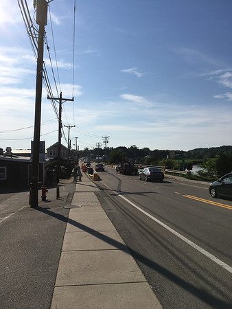 ANDREA HOLBROOK/Staff photo/Temporary traffic lights have been removed and two-way traffic  on the Main Street/Route 133 bridge over the Essex River is possible again.