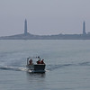 "MIKE SPRINGER/Staff photo<br /> The ""Thacher Island I"" launch makes a return trip from the island Wednesday in Rockport.<br /> 8/8/2018"
